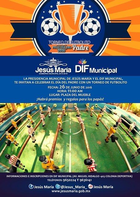 ¡Festejará Gobierno Municipal de Jesús María el Día del Padre con torneo de futbolito!