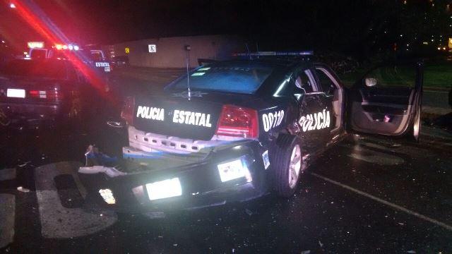 ¡Tras persecución detuvieron a 2 robacoches que chocaron contra 2 patrullas en Aguascalientes!