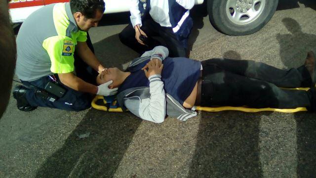 ¡9 lesionados tras el choque ente 2 camionetas en Aguascalientes!