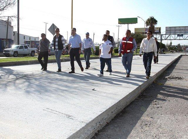 ¡Inaugura alcalde de la capital obras de pavimentación en avenida Circunvalación Oriente!