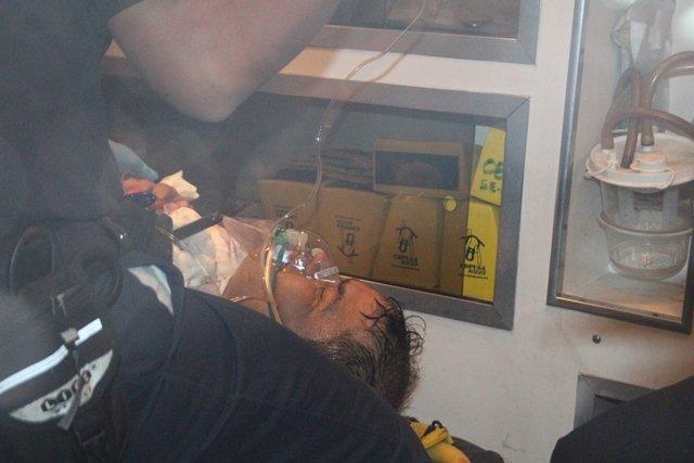 ¡Hombre se hirió 17 veces y se dejó clavado un cuchillo al intentar suicidarse en Aguascalientes!