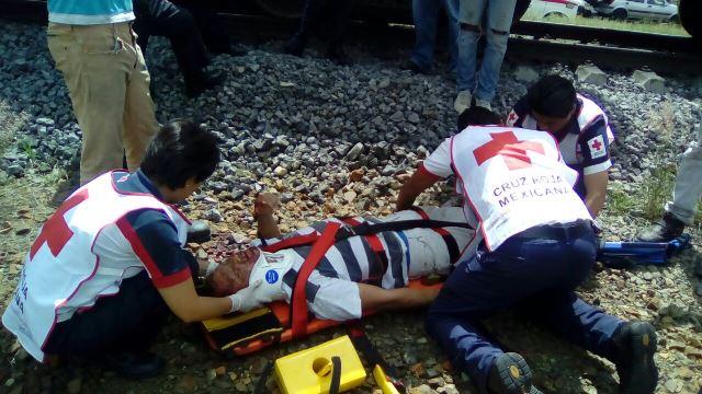 ¡Vicioso fue atropellado por el tren en Aguascalientes y logró sobrevivir!