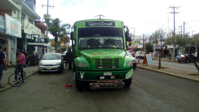 ¡Camión urbano atropelló y mató a un adulto mayor en Aguascalientes!