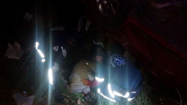 ¡Hombre murió al volcar su auto en Aguascalientes al regresar de la Feria de los Chicahuales!