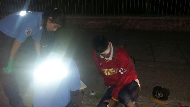 ¡2 lesionados tras el choque entre una motocicleta y una bicicleta en Aguascalientes!