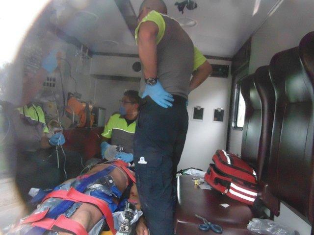 ¡Volcadura de una camioneta en Aguascalientes dejó 2 lesionados, uno de gravedad!