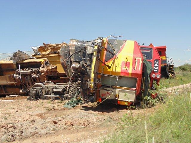 ¡Tráiler provocó el descarrilamiento de un tren en Aguascalientes: 2 lesionados!