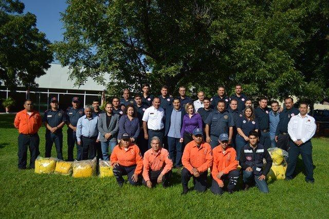 ¡Conmemoran a los bomberos en Calvillo!