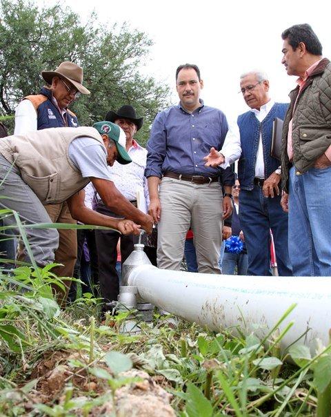 ¡Inauguró alcalde capitalino sistema de riego en la zona rural sur!