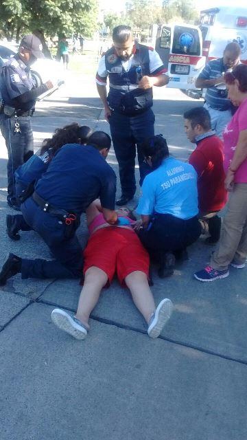¡Lesionadas abuela y nieta que fueron atropelladas por una camioneta en Aguascalientes!