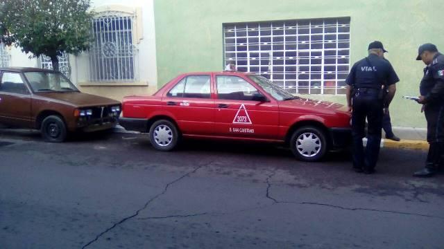 ¡Ancianita murió atropellada por un taxi en Aguascalientes!
