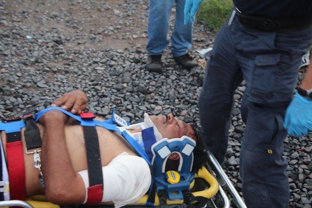 ¡Grave sujeto alcoholizado atropellado por el tren en Aguascalientes!