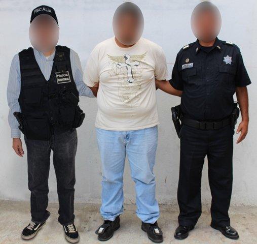 ¡Policías ministeriales y federales detuvieron a un extorsionador en Aguascalientes!