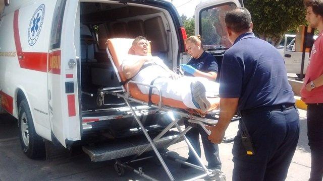 ¡Flamazo en una empresa en Aguascalientes dejó un empleado lesionado con quemaduras!