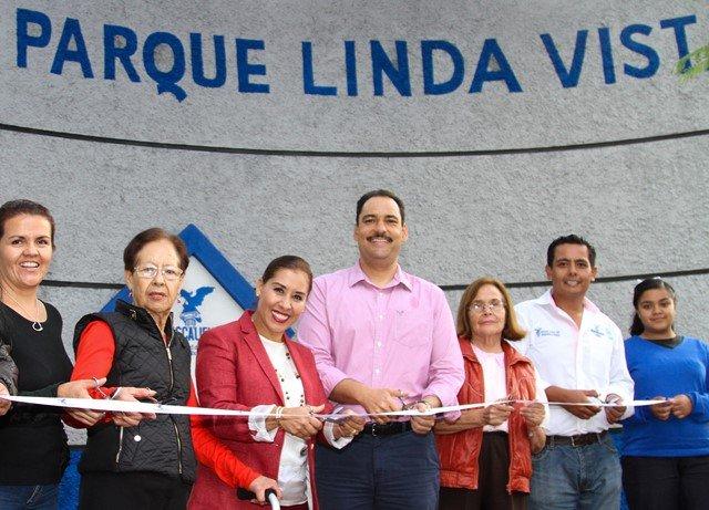 ¡Entrega alcalde de la capital renovado parque a vecinos del fraccionamiento Lindavista!