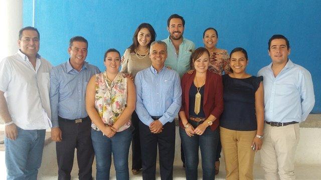 ¡Noel Mata, alcalde electo de Jesús María, se reunió con diputados del PAN!