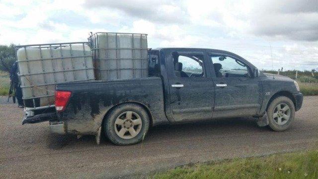 ¡La Policía Estatal Preventiva aseguró 2 mil 400 litros de diésel en Cañitas!