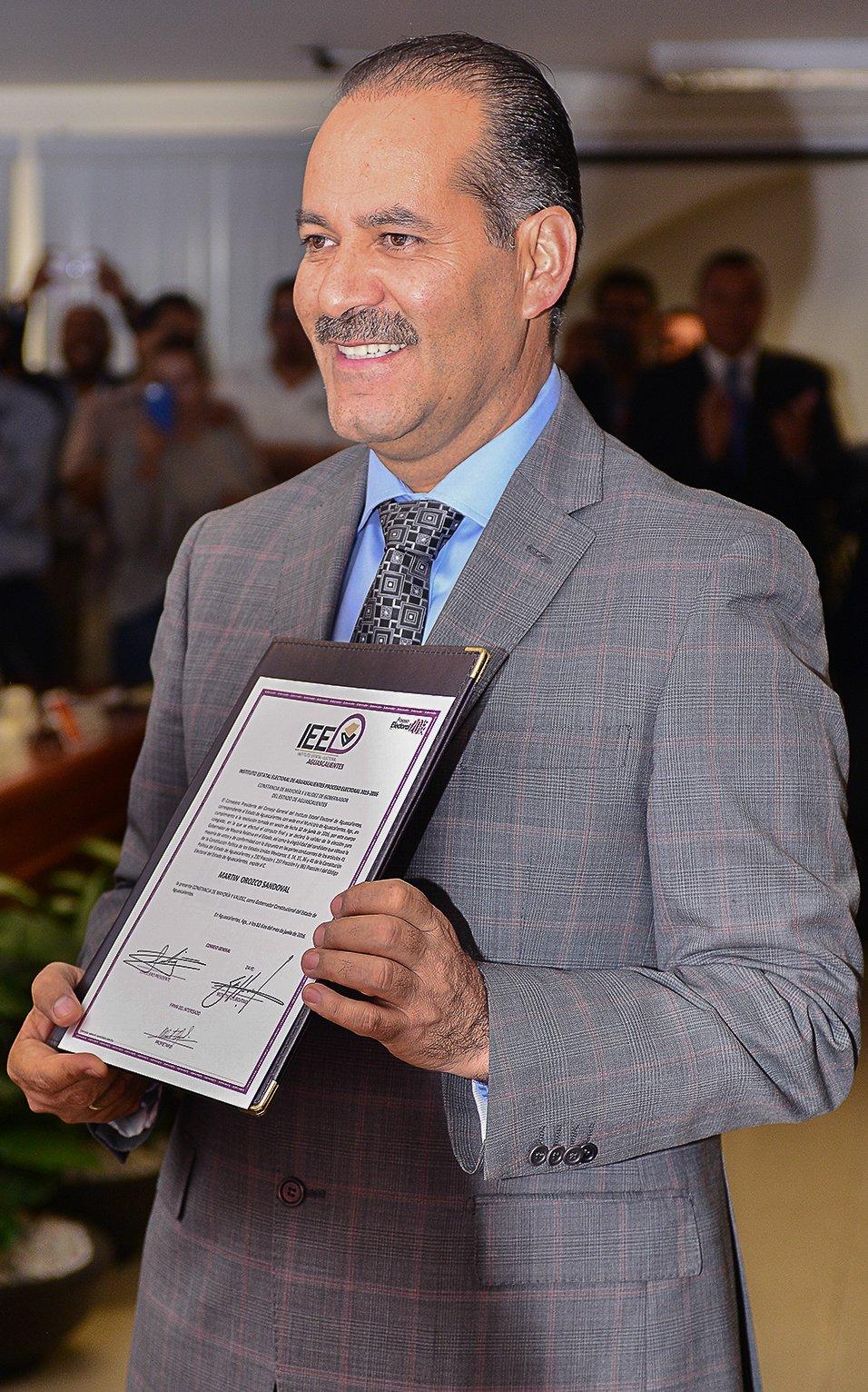 ¡Martín Orozco es gobernador de Aguascalientes!