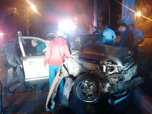 ¡Jóvenes alcoholizados resultaron lesionados tras accidentarse en Aguascalientes!