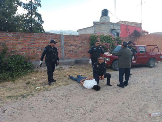 ¡Detuvieron a peligroso sujeto con un arma de fuego en Calvillo, Aguascalientes!