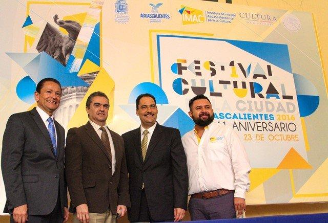 ¡Presenta alcalde de la capital programa del Festival Cultural de la Ciudad de Aguascalientes 2016!