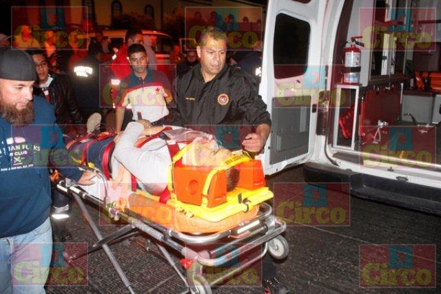 ¡Grave motociclista tras aparatoso accidente en Lagos de Moreno!