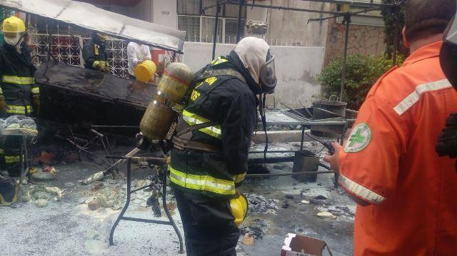 ¡3 lesionados con quemaduras al explotar un tanque de gas en Guadalajara!