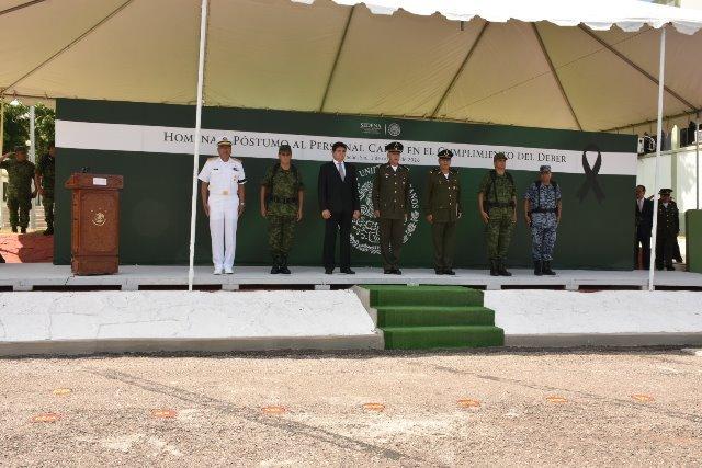 ¡Homenaje póstumo a elementos del Ejército caídos en el cumplimiento de su deber!