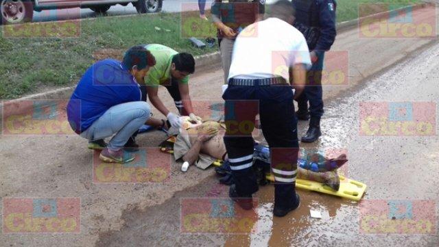 ¡Sexagenario murió arrollado por un camión de volteo en Fresnillo!