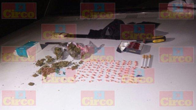 ¡Aseguraron drogas y vehículos robados en Lagos de Moreno; hay 6 detenidos!