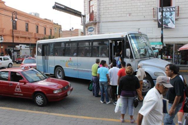 ¡No es factible incremento a 9 pesos a tarifa de transporte público en Aguascalientes!