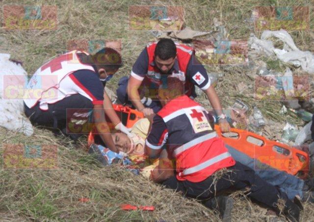 ¡Grave un motociclista tras aparatoso accidente en Lagos de Moreno!