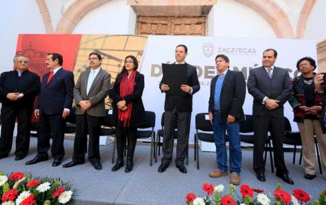 ¡Los artistas zacatecanos tienen todo mi apoyo, dice gobernador Alejandro Tello ante músicos!