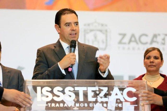 ¡Fondo de pensiones del ISSSTEZAC jamás será usado como caja chica de mi gobierno, garantiza Alejandro Tello a trabajadores!