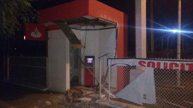 ¡Delincuentes hicieron estallar un cajero automático en Aguascalientes!