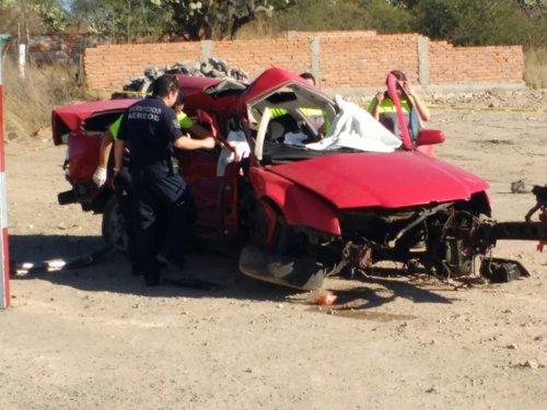 ¡Ya son cinco muertos el saldo del brutal choque frontal en Aguascalientes!