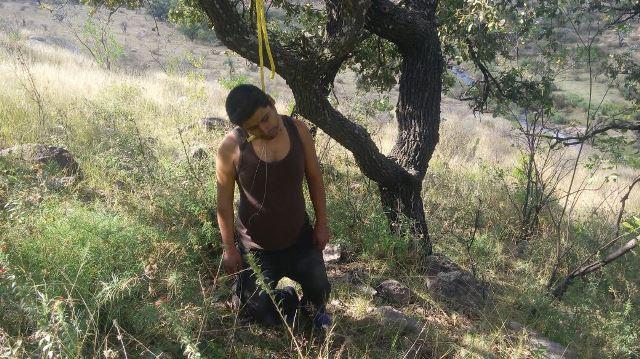 ¡Identificaron al hombre que se suicidó en un árbol en Aguascalientes!