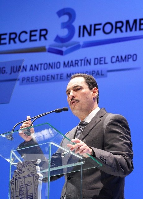 ¡3 años de buenas obras distintivo del gobierno del alcalde Juan Antonio Martín del Campo!