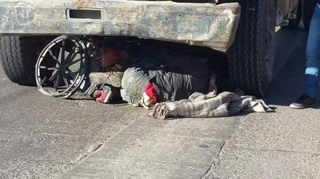 ¡Discapacitado se salvó de morir aplastado por una pipa en Aguascalientes!