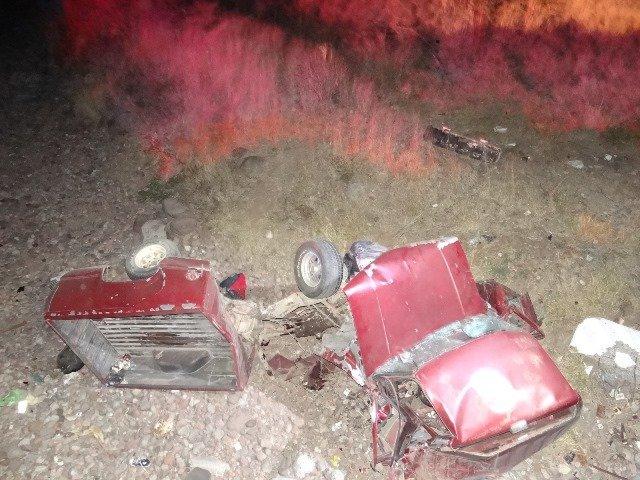 ¡Murió un hombre tras caer su camioneta de un puente de 5 metros de altura en Aguascalientes!