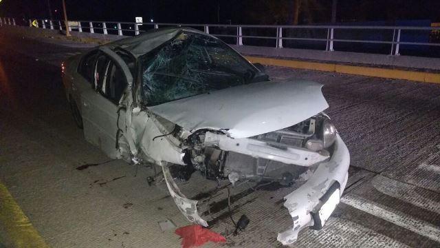 ¡Un joven se mató tras un fuerte choque-volcadura en Aguascalientes!