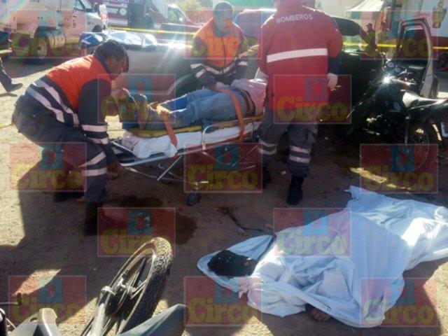 ¡Accidente de motocicleta en Río Grande, Zacatecas, dejó 1 muerto y 3 lesionados!