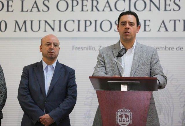 ¡Se comprometen gobernador Alejandro Tello y Comisionado Nacional de Seguridad a reforzar acciones para garantizar la paz en Zacatecas!