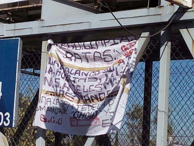 ¡Aparecieron 6 narco-mantas en Aguascalientes de Cárteles Unidos!