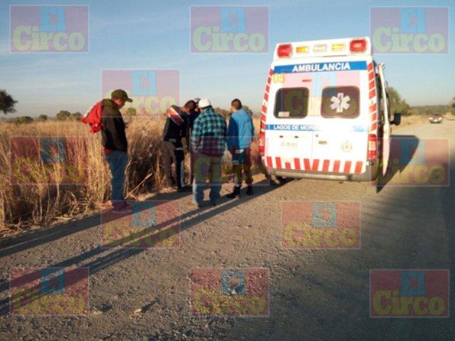 ¡Lesionados 2 trabajadores atropellados por una camioneta en Lagos de Moreno!