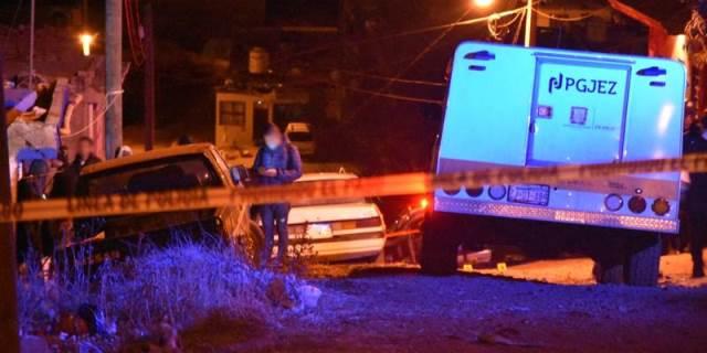 ¡4 sujetos balearon una casa y un auto en Zacatecas!