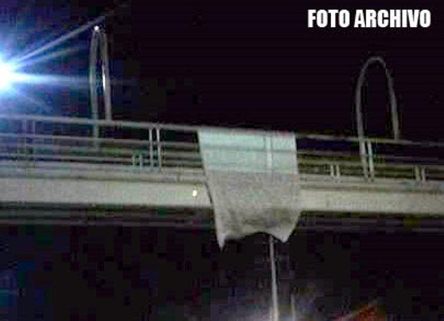 ¡Un grupo delictivo dejó 2 narco-mantas en Trancoso y Guadalupe, Zacatecas!