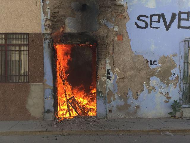 ¡Se incendió una casa abandonada en Aguascalientes!
