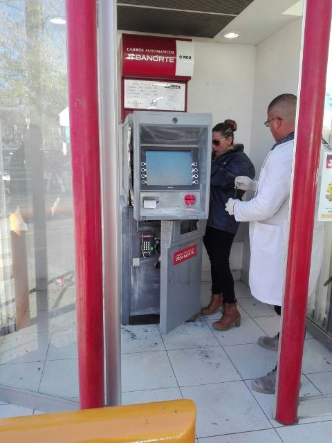 ¡Otra vez intentaron saquear un cajero Banorte en Aguascalientes!