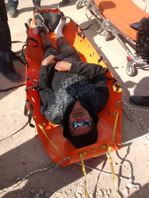 ¡Rescataron a un hombre lesionado del Cerro del Picacho en Aguascalientes!